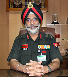 Lt General D.S. Siddhu, Director General, Mechanised Forces, Indian Army